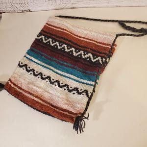 Aztec print sweater bag